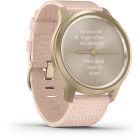 Garmin Vivomove Style Smartwatch, white gold/pink
